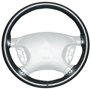 Wheelskins Black Genuine Leather Steering Wheel Cover for Dodge (Size AXX)