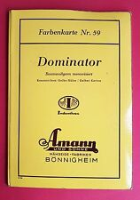 Farbenkarte Musterkarte Nr. 59 AMANN Bönnigheim DOMINATOR Baumwollgarn  ( F16715
