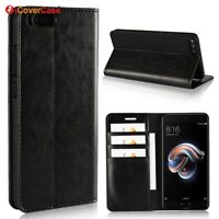 Luxury Genuine Leather Wallet Flip Case Stand Cover For Xiaomi Mi Note 3