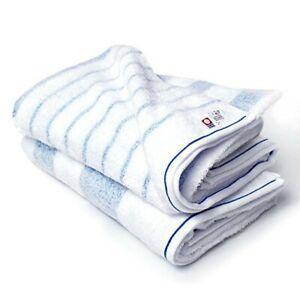 Broome Imabari Towel Authorized Natural Border Bath Towel Set Blue Border