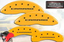 "2010-2015 Chevy ""Camaro"" LS LT Front + Rear Yellow MGP Brake Disc Caliper Covers"