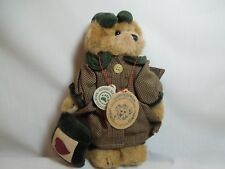 Boyds Bears & Friends Bailey in Green and Tan Dress
