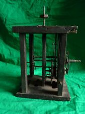 Antique wooden clock movement – marked F.H