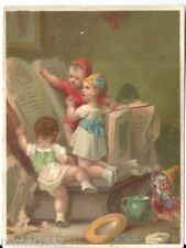 Chromo A la place de Clichy enfantina livre bouquin jouet book