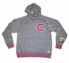 NWT Chicago Cubs MLB Stitches Gray Hoodie Sweatshirt Mens Sz L