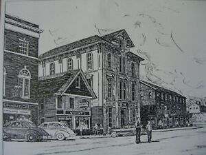 "Robert Treat sketch ""Lovell Building"" Main St. Stratford,CT. Org. Litho 1960"