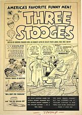 "Three Stooges Original Cover Art  #1 1953   FVF   15"" x 21""     Maurer"