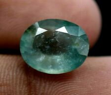 12 x 9 mm Natural Green Colombia Emerald 3.90 CT Certified Oval Cut Gemstone