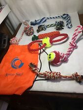 Gunter S&J Aggressive Chewer Dog Ball Toys With Carrying Bag 8 Piece Set  (G)