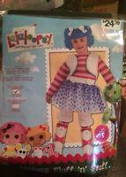 NIP Girls Lalaloopsy Halloween Costume  Small 4-6 3T 4T Mittens Fluff N Stuff