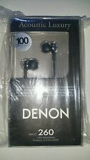 "Denon AH-C260 ""Acoustic Luxury"" In Ear Stereo Headphones - Black R.R.P $89"