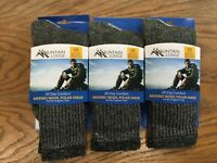 Merino Wool Polar Hiker Socks 3 PAIRS Black/Brown MEN'S AND WOMAN'S MADE IN USA!