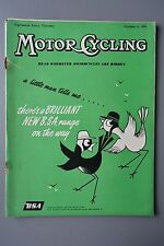 R&L Mag: Motor Cycling Oct 6 1955 Hub Steering/Messerschmitt200/Zundapp Bella