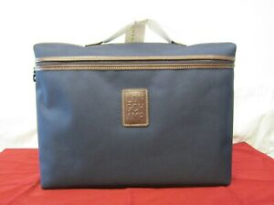 NWT Longchamp Boxford Canvas Briefcase