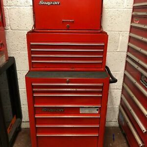 """Snap On Roll Cab 26"""" Lock and Roll With Snap on 26"""" Top box Snap on tool box"""