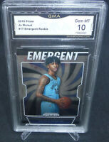 2019-20 Panini Prizm Ja Morant Emergent Rookie Card #17 GMA Graded Gem Mint 10