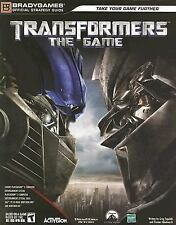 Transformers The Game Strategie Guide-Brady Games ps2 ps3 Xbox 360 PC Wii DS