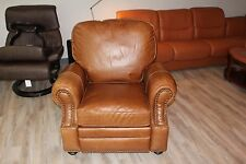 Barcalounger Longhorn ll Manual Recline Recliner Chair in Chaps Saddle Leather