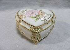 San Francisco Music Box Heart Shaped Footed Musical Trinket Box The Way We Were