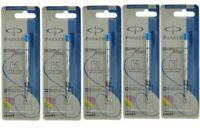 5 x Parker Jotter Classic Ball Point Pen Refills, Blue Ink, Medium 1mm Tip, New