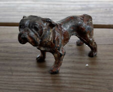 Vtg Collectible Brass Pug Dog Animal Statue Figure Made In Germany