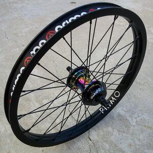 PRIMO BMX FREEMIX PRO FREECOASTER BICYCLE WHEEL LHD OIL SLICK/BLACK
