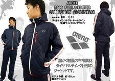 Genuine Arena Swim Blue Track Quilted Jacket w/ Hood 2012 Japan Design ARF-2109