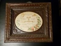 Beautiful Frame w/ dated 1894 Certificate of Marriage New York Wood Vintage
