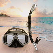 Anti-Fog Scuba Free Dive Diving Mask Tempered Glass Lens Snorkeling Gear w/ Tube