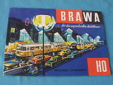 Brawa suisse dépliant 8 feuilles ho 1:87 réseau train électrique lampadaires...