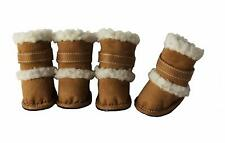DUGGZ Sherpa Dog Boots - SM - Set of 4 - Protect Ice/Cold - Brown - Pet Life NWT