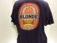 RED HOOK ALE BREWERY  BLONDE GOLDEN ALE T-SHIRT(L) 2 SIDED-MADE U.S.A.- RARE