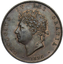1826 HALFPENNY - GEORGE IV BRITISH COPPER COIN - SUPERB