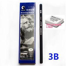 MARIE'S C7401 DRAWING pencil model 3B (10 piece per box) BLACK (FREE 1 ERASER)