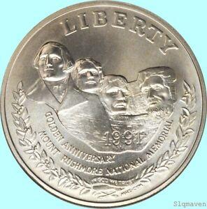 1991 D Mt Rushmore Silver Dollar Silver Dollar Gem BU No Reserve