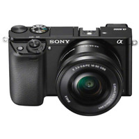 A - Sony Alpha A6000 Digital Camera with 16-50mm PZ Lens: Black