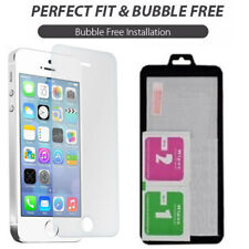 100 Genuine Tempered Glass Screen Protector Protection for Apple iPhone 5 5c 5s