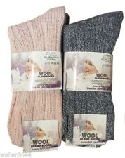 Wool Blend No Pattern Everyday Socks for Women