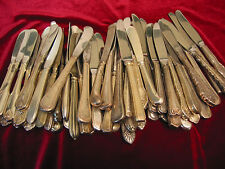 Silverplate Butter Spreader Lot of 65 Hotel Restaurant or Craft Flatware