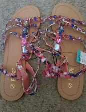 BNWT ladies/girls Multicolored dimonte gladiator sandals RRP £15 sizes 3-4-5-6-8