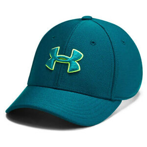 Under Armour UA Kids Blitzing 3.0 Teal Vibe Stretch Fit Boys Cap