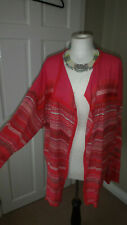 Gorgeous Lucia Open front Summer Pink Mix Cardigan Size UK 20