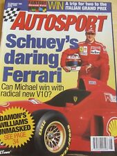 AUTOSPORT MAGAZINE FEB 1996 SCHUEY'S DARING FERRARI DAMON'S WILLIAMS UNMASKED