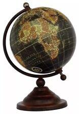 Vintage globe rotatif pivotant Carte de terre Atlas géographie monde cadeau 18 cm Haute
