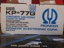 PIONEER KP-77G COMPONENT CAR STEREO CASSETTE DECK AUTO REVERSE VINTAGE