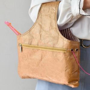 Knitting Handbag Tote Bag Yarn Storage Organizer Holder For Sewing Crochet YUAJK