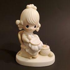 "Enesco Precious Moments E-3106 ""Mother Sew Dear"" Figurine"