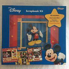 "Disney Scrapbook Kit Mickey Mouse 12""x12"" Postbound Photo Album & Extra Stickers"