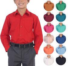 Boy's Classic Fit Informales Mangas Largas Botones Camisa Vestido del niño niños