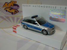 """Busch 43661-Mercedes-Benz Clase C combi plata-azul """"policía"""" 1:87 top!!!"""